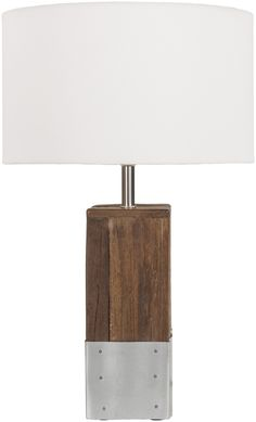 Restoration Rustic Table Lamp Natural Finish White