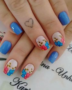 flower style 2019 gorgeous nail art designs are perennial Cute Nail Art, Beautiful Nail Art, Gorgeous Nails, Cute Nails, Pretty Nails, Spring Nail Art, Nail Designs Spring, Toe Nail Designs, Flower Nails