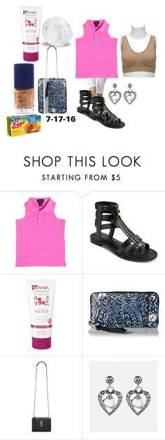 """""""Today's' Actual Outfit"""" by michelle858 ❤ liked on Polyvore featuring Ralph Lauren, Merona, Marc Jacobs, Yves Saint Laurent, Avenue, NARS Cosmetics, Summer, summerstyle, gladiatorsandals and summersandals"""
