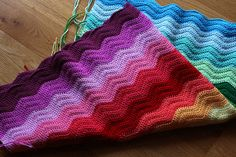 Look What I Made: Rainbow Ripple Blanket « Katie's Kitchen Blog
