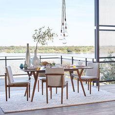 Mid-Century Expandable Dining Table - Walnut   west elm Australia