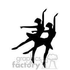 Two ballerinas silhouettes