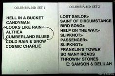 #Furthur 7-8-2012 Merriweather setlist