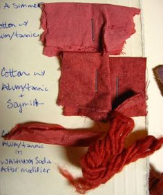 Madder Dyeing notes - Boiled Down