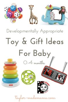 Developmentally Appropriate Toy & Gift Ideas for Baby (0-4 months old)