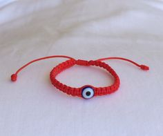 baby bracelet, baby pretection, baby lucky eye, baby jewelry, baby evil eye bracelet, red bracelet, macrame bracelet, braided bracelet by LuckyCharmsUSA on Etsy