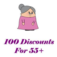 100 Discounts for 55+ - My Honeys Place