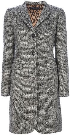 Woven Over Coat - Lyst by Dolce & Gabbana