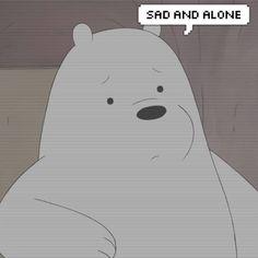 Viễn Ngạn Bear Wallpaper, Cartoon Wallpaper, Wallpaper Quotes, Ice Bear We Bare Bears, We Bear, Polar Bear Cartoon, We Bare Bears Wallpapers, Cartoon Quotes, Sad Stories