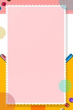 Cartoon pop geometric frame Powerpoint Background Design, Background Templates, Background Patterns, Frame Background, Geometric Background, Background Images, Cartoon Background, Flower Backgrounds, Wallpaper Backgrounds