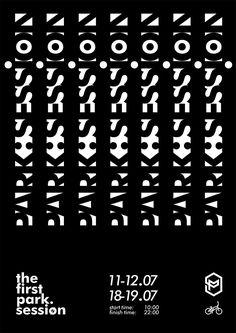 park:session poster | typeface: Futura