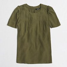 Factory draped gathered top - TUSCAN OLIVE