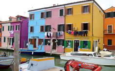 Burano, Italy has every Pantone Color of the Year on its little island.