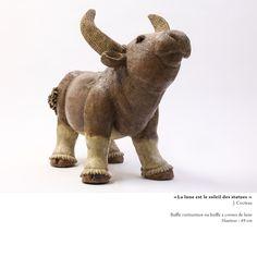 Buffle / Buffalo /  Valerie Courtet / sculpture / www.valeriecourtet.com