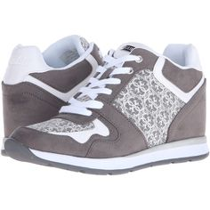 Womens Shoes GUESS Laceyy New Light Grey Fabric