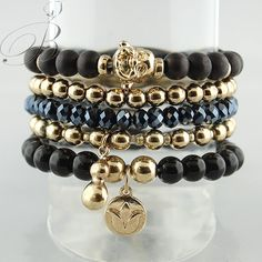 Buddha ZEN! If you love the BOHO look, you'll fall in LOVE with this set of mixed beaded bracelets!  $34 (in stock) XO { LIKE us on FACEBOOK @ www.tresorsdeluxe.com