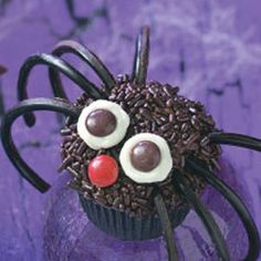Mini Spider Bites Mini Cupcake Recipe from Taste of Home