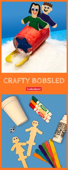 Glide into the winter-sport spirit with our fun bobsled craft! – Pin's Page Kids Sports Crafts, Sports Activities For Kids, Sport Craft, Winter Activities, Crafts For Kids, Bobsleigh, Sports Images, Sports Art, Mazda 3