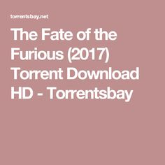 The Fate of the Furious (2017) Torrent Download HD - Torrentsbay