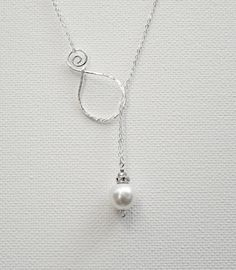 Pearl Pendant Sterling Silver Necklace by BelleAtelierJewelry, $44.00