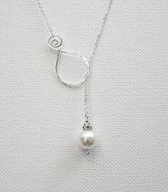Pearl Pendant Sterling Silver Necklace by BelleAtelierJewelry, $44.00