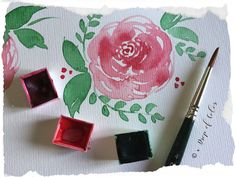 Come realizzare una rosa con l'acquerello - mini tutorial in 3 facili step