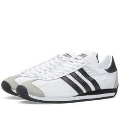 super popular 04260 22bb7 Mens adidas Originals Country OG Trainers Shoes Sz 10 White Black S79106  for sale online   eBay