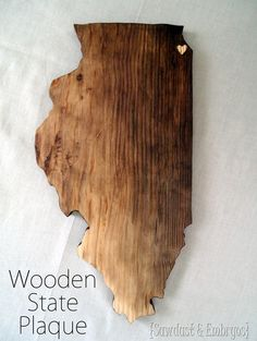 State Plaque Tutorial {by Sawdust and Embryos}