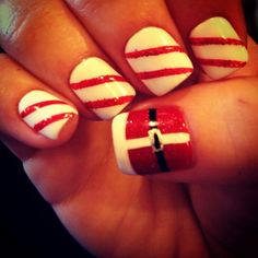 Santa and candy stripes design