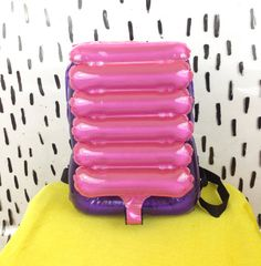 90s Inflatable Pink Purple and Silver by badatpettingcats on Etsy