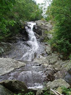 Shenandoah National Park waterfall .....Shenandoah National Park encompasses part of the Blue Ridge Mountains in the U.S. state of Virginia.
