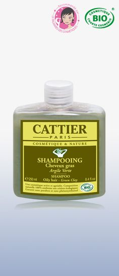 SHAMPOO OILY HAIR - Green Clay  A shampoo specially adapted for greasy hair to purify and subtly perfume.