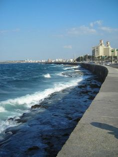 El Malecón--A favorite stroll for tourists and locals, a walk along the Malecon runs along the main streets of Havana and provides stunning views of the Bay. Supposedly, on weekends this is where the locals come to party and I can bring a bottle to join in.