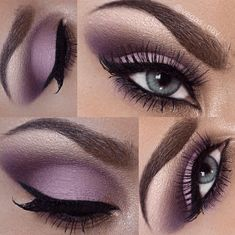 Pink and Purple Eye Makeup Looks 19 #greeneyemakeup