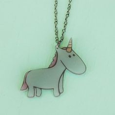 is it wrong to want this? Unicorn Friend Necklace now featured on Fab. never wrong to want this!