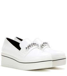 STELLA MCCARTNEY Embellished platform slip-on sneakers