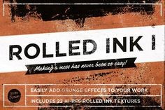 Ad: Rolled ink textures grunge effects by Itsmesimon on Rolled ink textures 1 22 stunning rolled ink textures all created by hand with water-based woodblock ink and a roller—oh and paper. Business Illustration, Pencil Illustration, Business Brochure, Business Card Logo, Elementary Art Rooms, Texture Packs, Script Type, Creative Sketches, Paint Markers