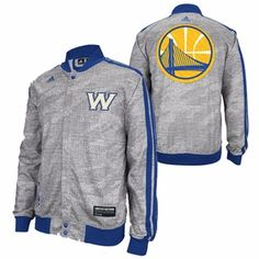 Golden State Warriors adidas Limited Edition Christmas Day 'W' Logo Snap Up Jacket - Grey