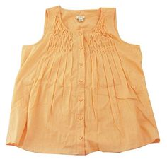 JCrew Womens Ruffle Top Sleeveless Blouse Orange 6 * Read more reviews of the product by visiting the link on the image.