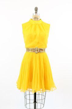 60s Chiffon Dress Medium / 1960s Coco of by CrushVintage on Etsy