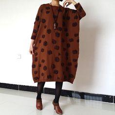 Long Sweater dress plus size sweater  knitwear by loosedress2015