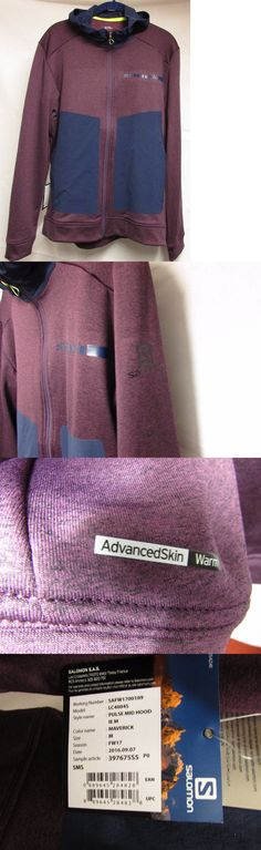 Jackets and Vests 59353: New Salomon Mens Medium Pulse Mid Hood Trail Running Jacket Maverick Nwt -> BUY IT NOW ONLY: $59.98 on eBay!