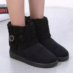 GET $50 NOW | Join RoseGal: Get YOUR $50 NOW!http://www.rosegal.com/boots/suede-button-cable-knitted-snow-705559.html?seid=7262302rg705559