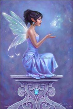 Rachel Anderson Art | Opalite by Rachel Anderson (twosilverstars on ... | Mermaids, Faerrie ...