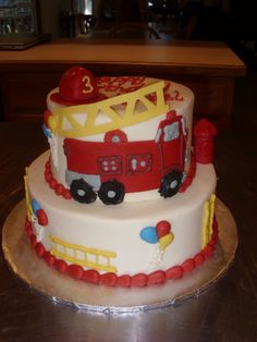 fire truck cakes ideas - Google Search
