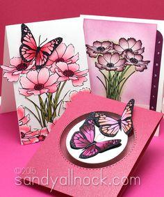 Sandy Allnock RV Cosmos and butterflies