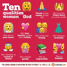 Catholic-Link& Library — Infographic: 10 qualities of a woman of God Catholic Quotes, Catholic Beliefs, Religious Quotes, Daughters Of The King, Catechism, Free Dating Sites, Roman Catholic, Catholic Dating, Thoughts