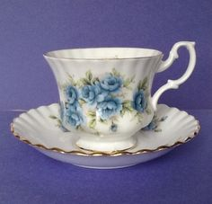A personal favorite from my Etsy shop https://www.etsy.com/listing/231630775/royal-albert-teacup-set-blue-roses