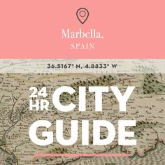 Marbella is a culturally diverse city on the coast of the Andalucian region in Spain and, yes, is as romantically beautiful as you'd expect. Boasting on average over 320 days of sunshine a year, gorge