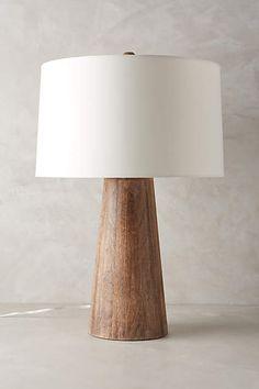 Wood Barrel Table Lamp - anthropologie.com $368